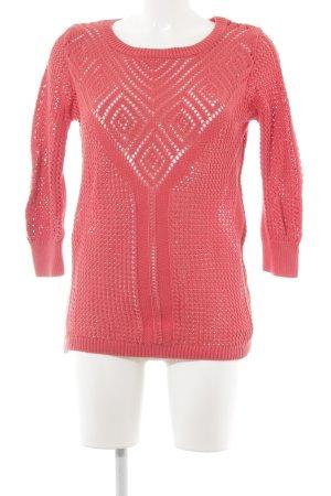 Oasis Pullover all'uncinetto rosso chiaro modello misto stile casual