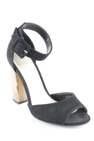Oasis High Heel Sandaletten schwarz Schnallenelemente