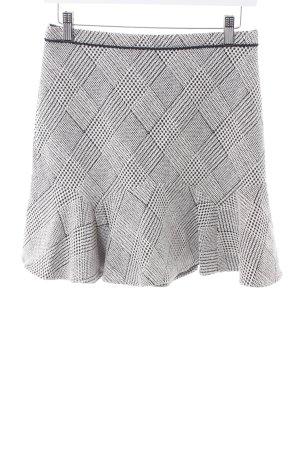 Oasis Jupe taille haute blanc cassé-noir motif à carreaux style d'affaires