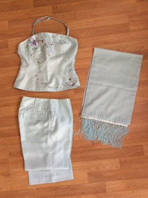 Oasis Pantalone a pieghe turchese-menta