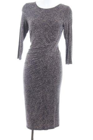 Oasis Jerseykleid beige-schwarz abstraktes Muster Party-Look