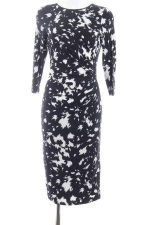 Oasis Jerseykleid schwarz-weiß abstraktes Muster Casual-Look