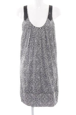 Oasis Jerseykleid schwarz-wollweiß Kunstmuster Elegant