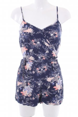 Oasis Tuta blu scuro-albicocca motivo floreale stile casual