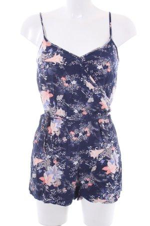 Oasis Jumpsuit dunkelblau-apricot florales Muster Casual-Look