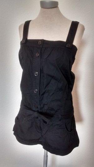 Oasis Jumpsuit schwarz Gr. UK 8 EUR 34 XS Baumwolle kurz Einteiler gothic metal