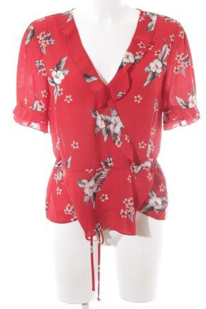 Oasis Blusa tipo kimono estampado floral Apariencia de ovillo