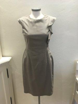 Oasis Kleid Etuikleid grau beige taupe Wolle 36 S
