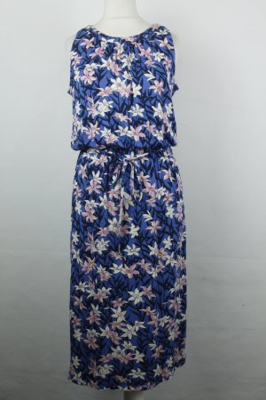 Oasis Kleid Midikleid dress Gr. XS blau Blumen