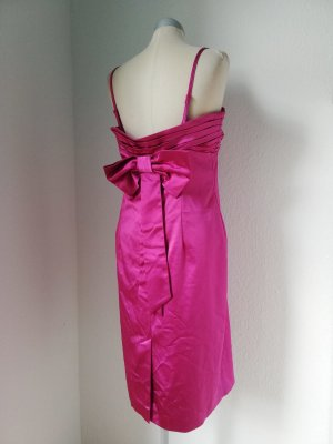 Oasis Kleid Satin Gr. Uk 16/ 42 fuchsia pink + Schleife rockabilly retro