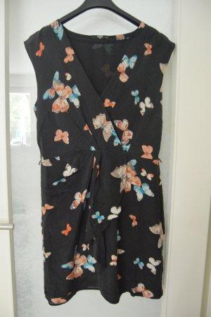 Oasis Kleid Seide gr.42 Schmetterlinge