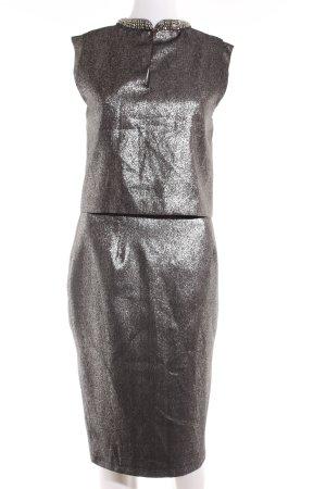 Oasis Kostüm silberfarben-schwarz Elegant