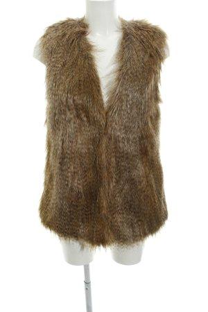 Oasis Vest van imitatiebont beige pluizig