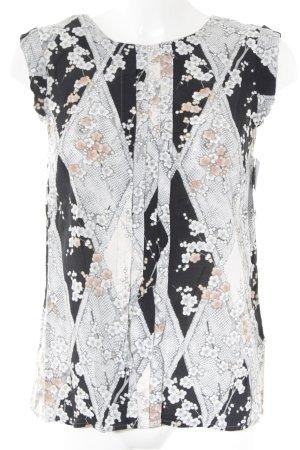 Oasis Kurzarm-Bluse abstraktes Muster Elegant