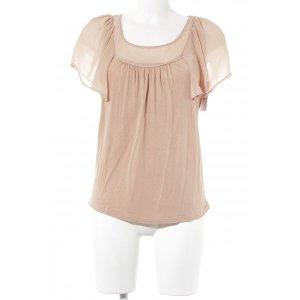 Oasis Kurzarm-Bluse apricot minimalistischer Stil