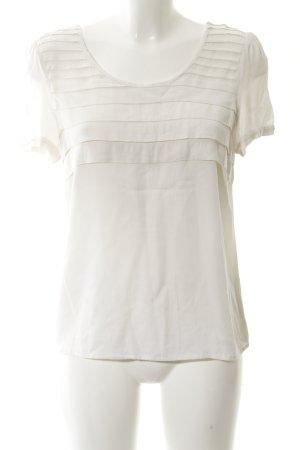 Oasis Kurzarm-Bluse wollweiß schlichter Stil