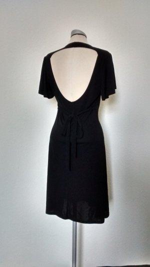 Oasis Kurzarm Kleid schwarz rückenfrei Neckholder Kurz gothic Gr. S M 38