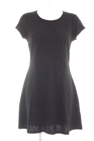 Oasis Kurzarmkleid schwarz Blumenmuster Elegant