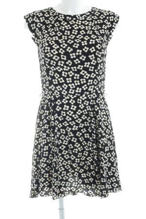 Oasis Kurzarmkleid schwarz-creme Blumenmuster Elegant
