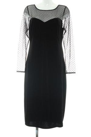 Oasis Langarmkleid schwarz Punktemuster Elegant