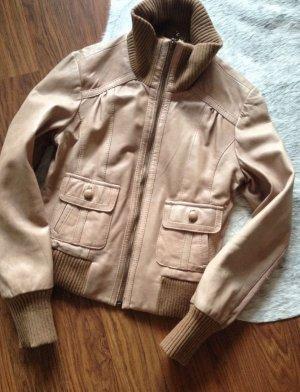 OASIS LEDERJACKE Cognac Braun Nude JACKE Jacket Leather BLOGGER LEDER S 34 36 38