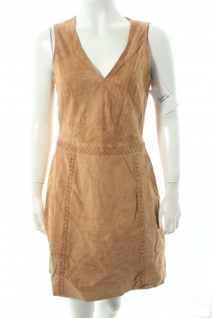 Oasis Leather Dress camel country style