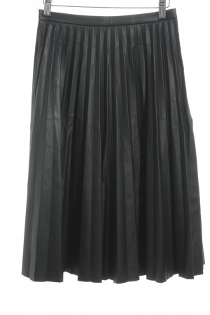 Oasis Leather Skirt black casual look