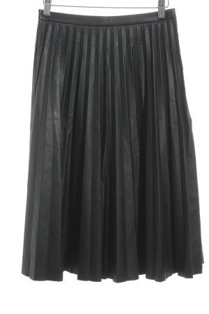 Oasis Falda de cuero negro look casual