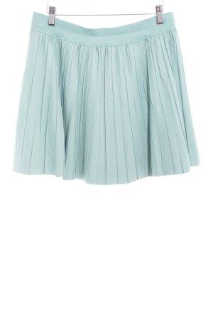 Oasis Falda de cuero turquesa look casual