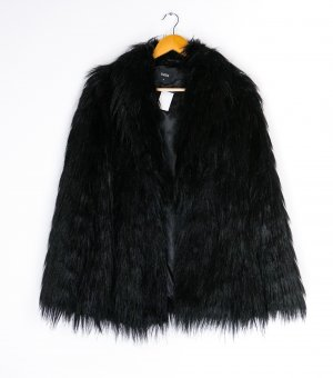 Oasis Fake Fur Coat black