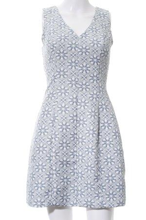 Oasis Minikleid hellgrau-weiß Blumenmuster Elegant