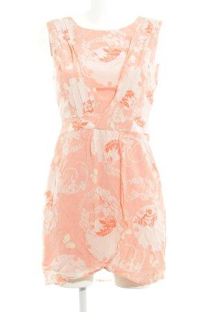 Oasis Minikleid apricot florales Muster Wickel-Look