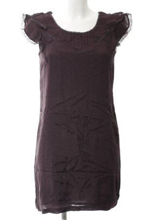 Oasis Minikleid braunviolett Punktemuster Romantik-Look