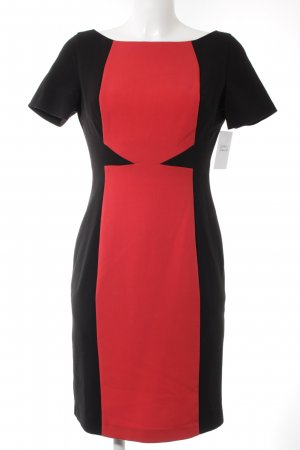 Oasis Minikleid rot-schwarz Business-Look