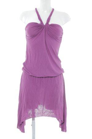 Oasis Vestido de cuello Halter violeta look casual
