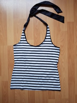 Oasis Halter Top white-black
