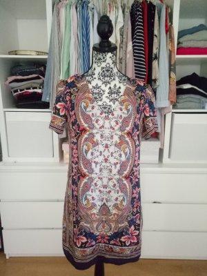 Oasis Paisley Kleid Cocktailkleid Seide S 36 Blau