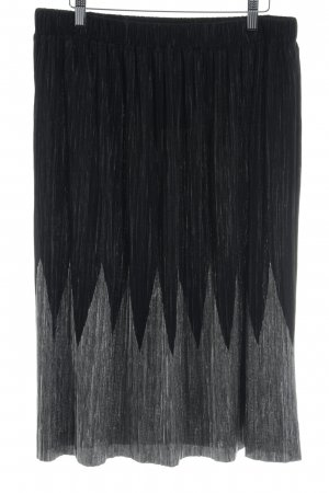 Oasis Pleated Skirt black-silver-colored glittery