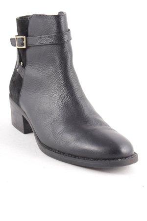 Oasis Zipper Booties black classic style
