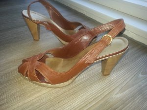 Oasis Sandaletten braun/camel, 7.5 cm Absatz, Größe 38