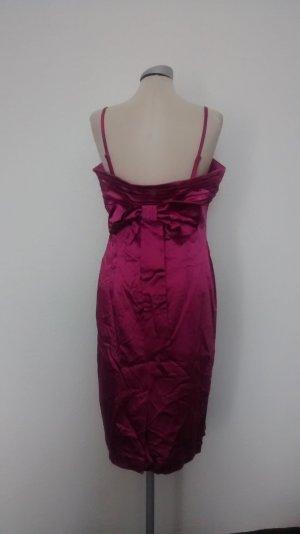 Oasis Satin Kleid Gr. Uk 12/ 42 pink fuchsia retro rockabilly