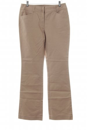Oasis Pantalon pattes d'éléphant beige style simple