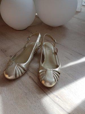 oasis Schuhe gold gr 36