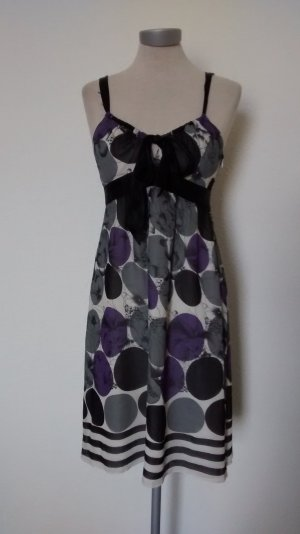 Oasis Seidenkleid Kleid Seide Gr. 36 UK 10 knielang Sommerkleid neu lila weiß