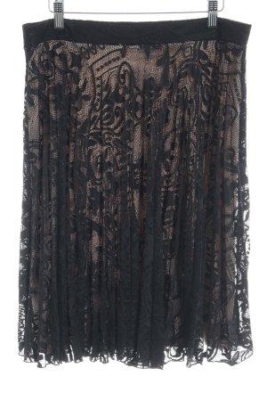Oasis Falda de encaje negro-rosa empolvado elegante