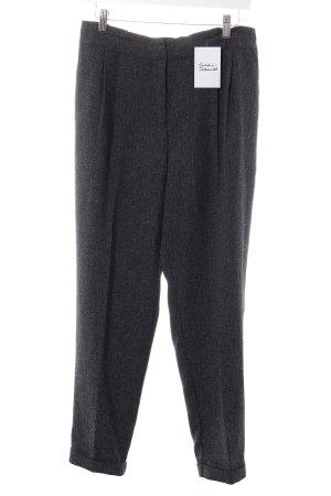Oasis Pantalon en jersey gris anthracite-gris clair moucheté style classique