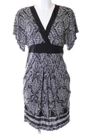 Oasis Stretchkleid schwarz-weiß abstraktes Muster Casual-Look