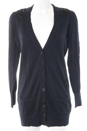 Oasis Strick Cardigan schwarz-dunkelblau extravaganter Stil
