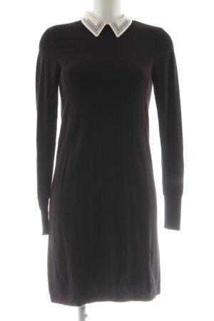 Oasis Strickkleid schwarz-weiß Elegant