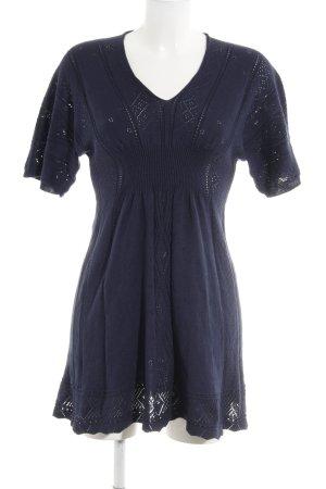 Oasis Abito di maglia blu scuro Motivo a maglia leggera stile casual